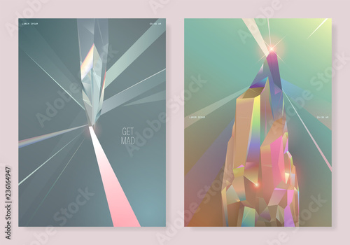 2 type pastel crystal poster design template Wallpaper Mural