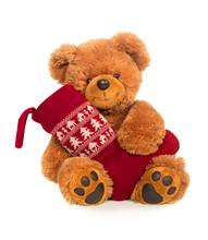 Teddy Bear With Christmas Stocking