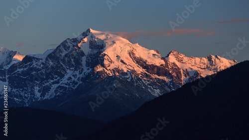 Alpenglow on famous ortler / Alpenglühen am Ortlermassiv Canvas Print