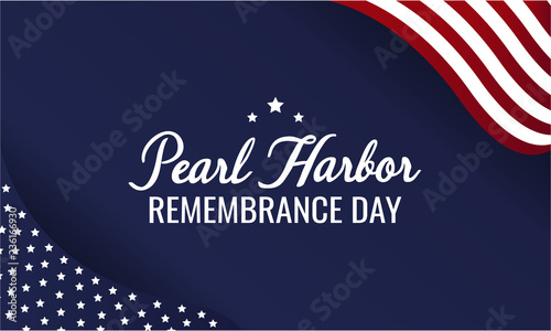 Pearl Harbor Remembrance day card or background Canvas Print