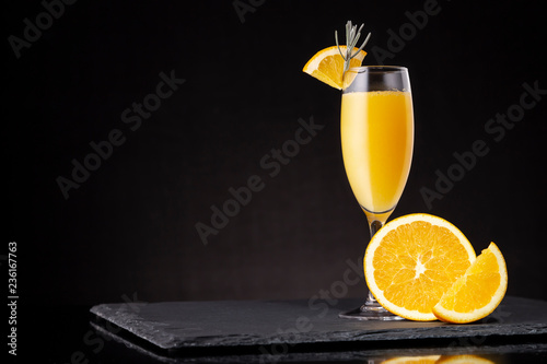 Autocollant pour porte Cocktail Mimosa cocktail
