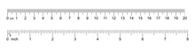 Ruler 20 Cm, 8 Inch. Set Of Ruler 20 Cm 8 Inch. Measuring Tool. Ruler Scale. Grid Cm, Inch. Size Indicator Units. Metric Centimeter, Inch Size Indicators. Vector