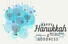 Hanukkah Greeting Card Or Back...