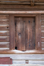 The Door Of The Old Barn In Th...