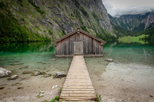 Boatshack At Lake Obersee