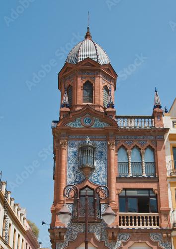 Stickers pour porte Pierre, Sable Stadtansicht, Sevilla, Andalusien, Spanien