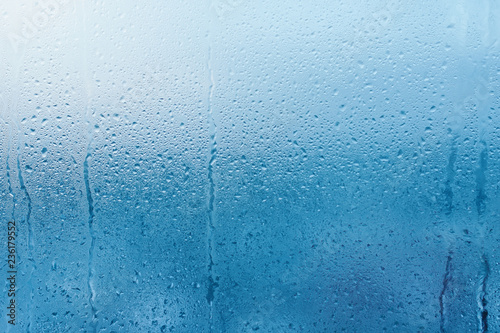 Condensation on the clear glass window Poster Mural XXL