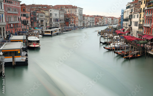 In de dag Centraal Europa Passenger boat sailing on the Grand Canal in Venice in Italy Pho