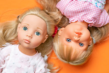 Close Up Girl Toy Doll Face Fl...
