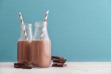 Two Bottles Chocolate Milk
