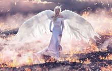 Conceptual Portrait Of An Ange...