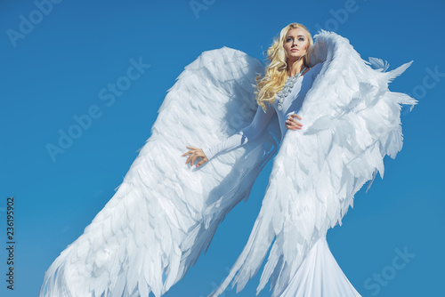 Foto op Canvas Artist KB Portrait of an elegant, blond angel