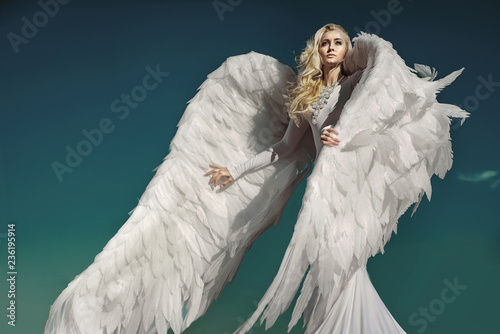 Tuinposter Artist KB Portrait of an elegant, blond angel