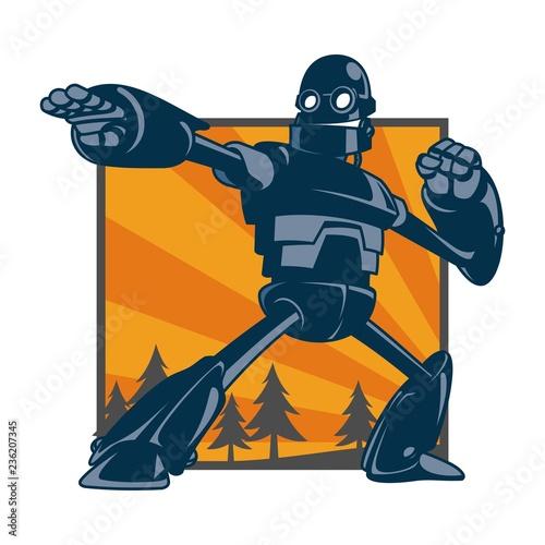 Fotografía  Vector illustration of giant robot
