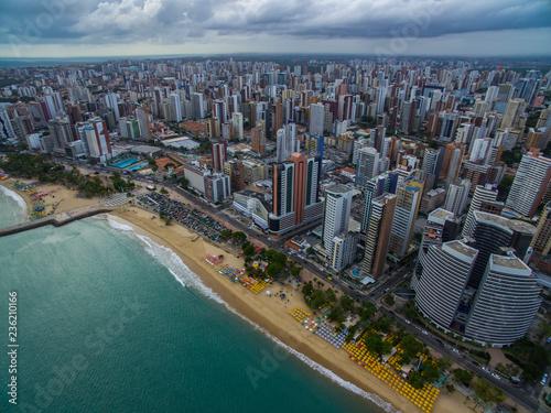 Valokuvatapetti Aeria view of the city of Fortaleza, Ceará, Brazil South America.