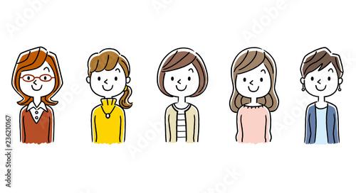 複数の女性:セット