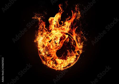 Fototapeta A ring of fire