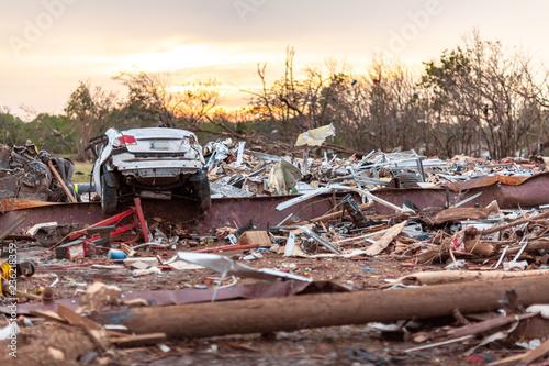 Tornado Destruction in Moore, Oklahoma in 2013 Canvas Print