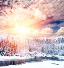 Sunshine Winter Landscape