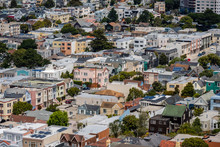 Aerial View Of Houses In Sunset District, San Francisco, California