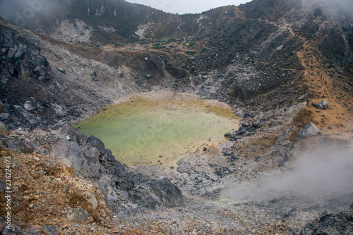 The crater of Sibayak Volcano, Berastagi, Sumatra, Indonesia
