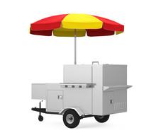 Hot Dog Cart Isolated