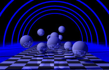 3D Abstract Background Balls. 3d Illustration