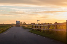 Rural Road During Sunset In Sw...