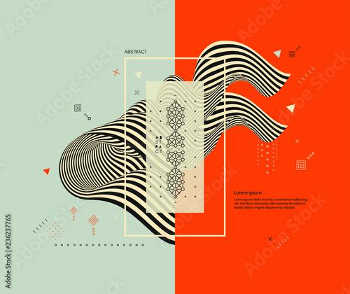 Fototapeta  Pattern with optical illusion
