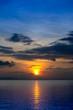Sunset sky on the lake