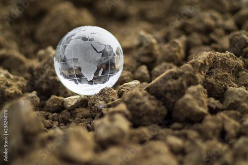 Fotografie, Obraz  Globo di cristallo terra Africa