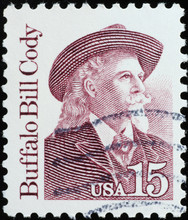 Portrait Of Buffalo Bill On American Postage Stamp