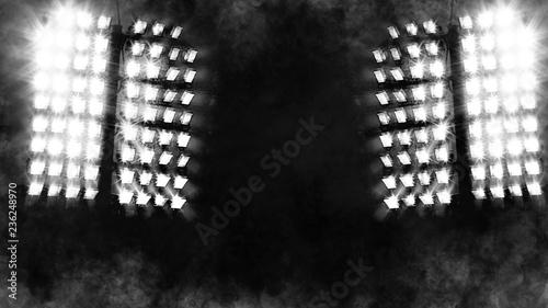 Türaufkleber Rauch Close up of a spotlight . Blur smoke snow texture effect.
