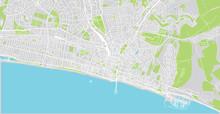 Urban Vector City Map Of Bright, England