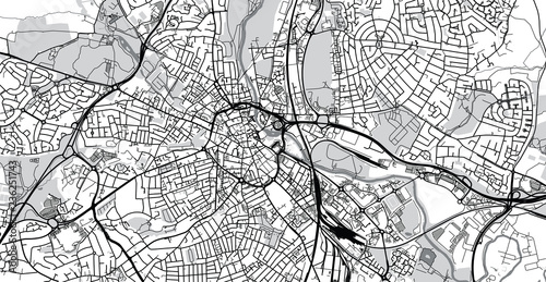 Fototapeta Urban vector city map of Derby, England