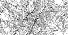 Urban Vector City Map Of Leicester, England
