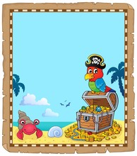 Parchment With Pirate Parrot Theme 2