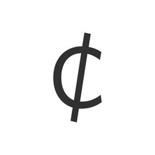 Cent Sign Icon.Money Symbol.ve...