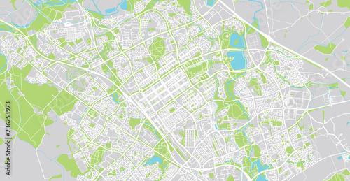Map Of England Milton.Urban Vector City Map Of Milton Keynes England Buy This Stock