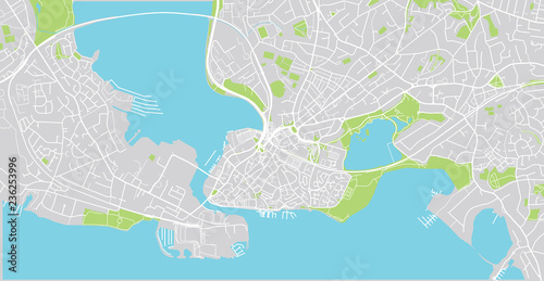 Poole England Map.Urban Vector City Map Of Poole England Buy This Stock Vector And