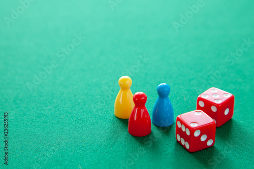 Colored game figures chips for board games Fototapeta
