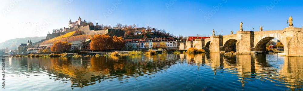 Fototapety, obrazy: Scenic Wurzburg town - famous