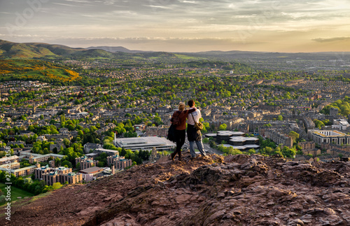 Photo Lovers looking from hill to the city