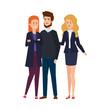elegant business people avatars characters