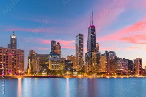 Poster Chicago Chicago, Illinois, USA Lake Skyline