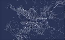 Map Of The City Of Reykjavik, Capital Region, Iceland
