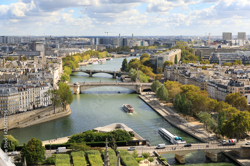 In de dag Centraal Europa The view on Seine river from tower of the Notre-Dame de Paris