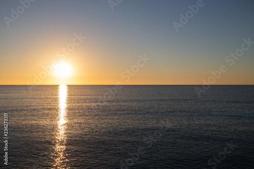 Lever du soleil en Méditerranée