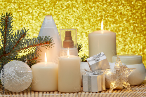 Fototapety, obrazy: Spa composition and Christmas decorations
