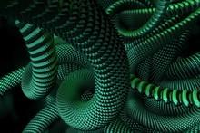 Grüne Schlangen Aus Metall